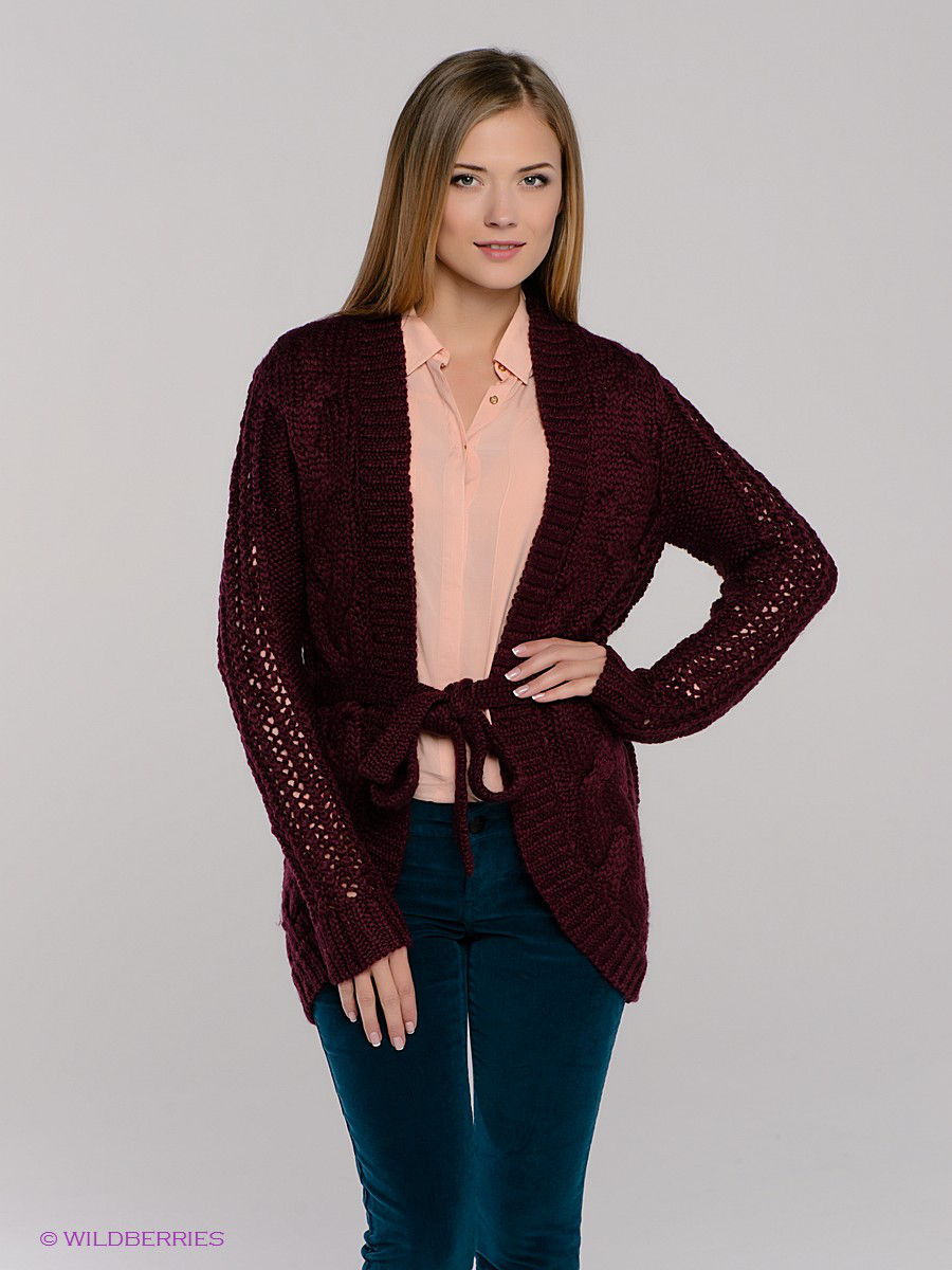 Кардиган CABLE KNIT LONG CARDIGAN MAVI 170147-15667
