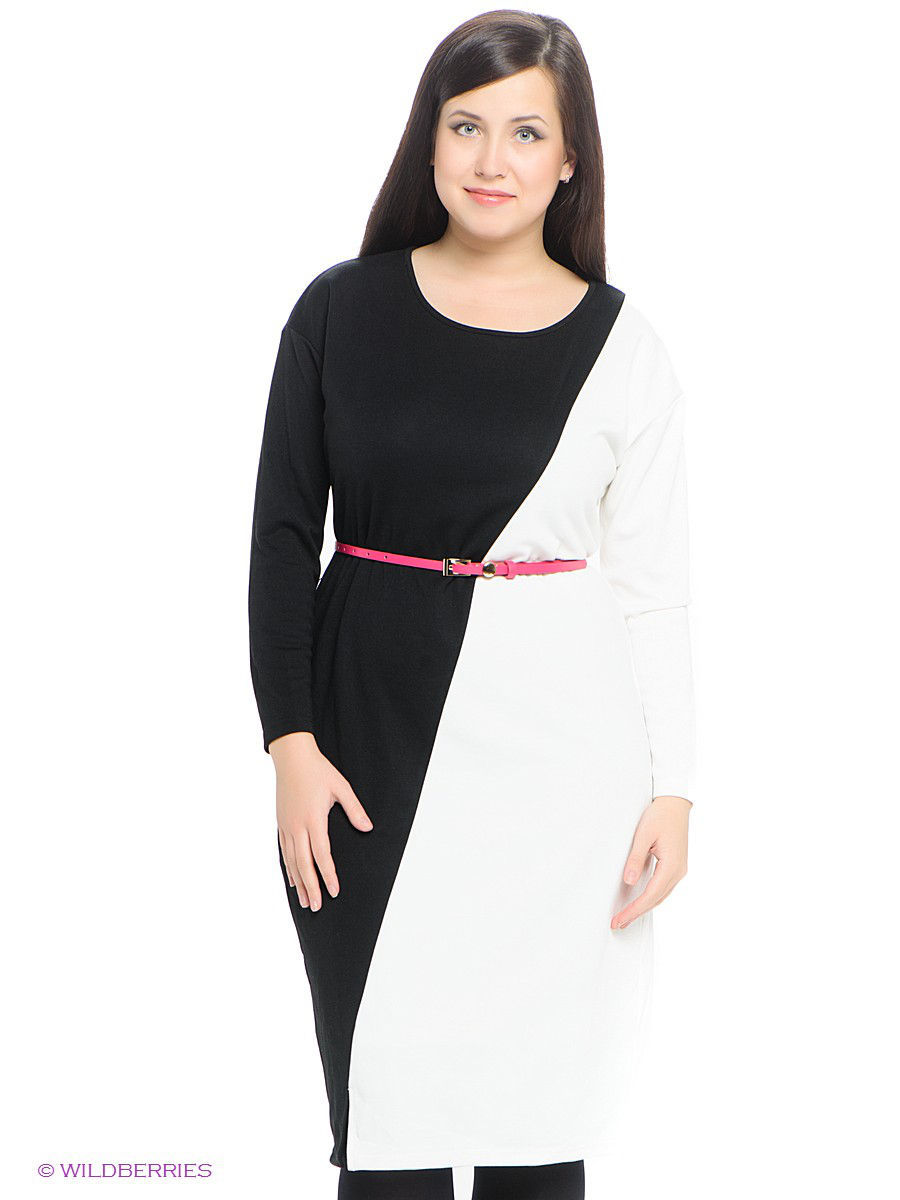 Платье LE MONIQUE LMNTMW14DR165/BLACK/WHITE