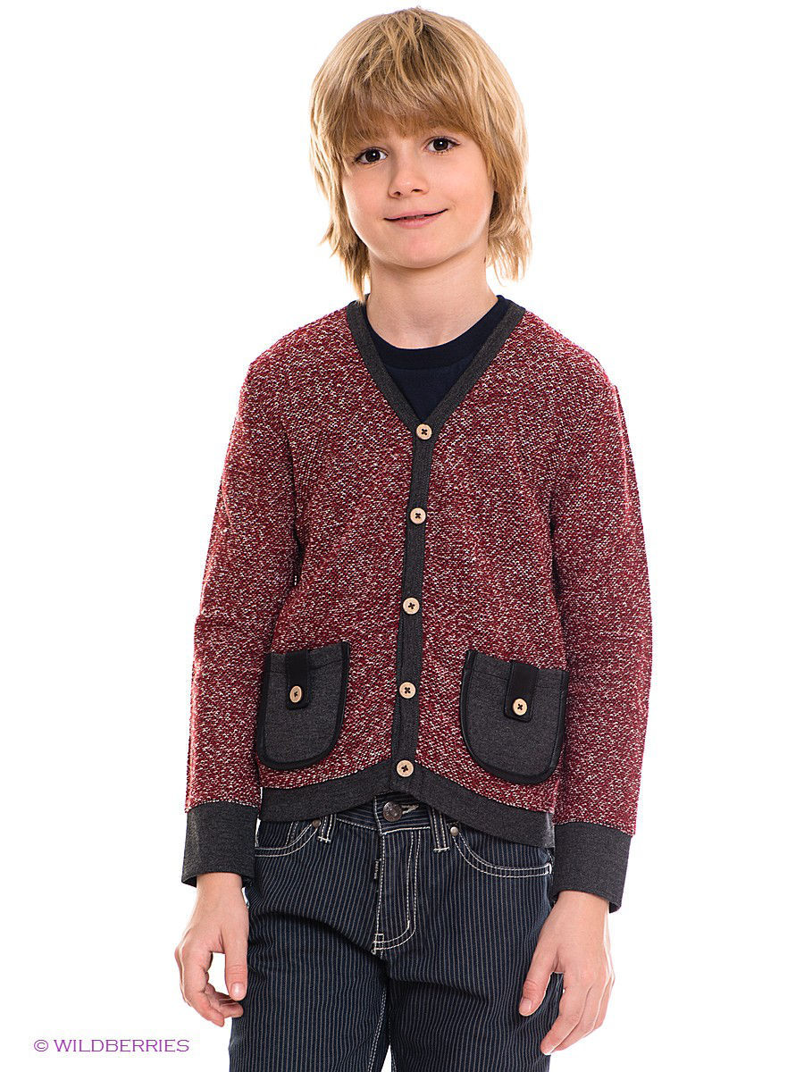 "Кардиган ""Cardigan w/ Leather Trim"" Fore!! Axel and Hudson 13F527-BK/коричневый"
