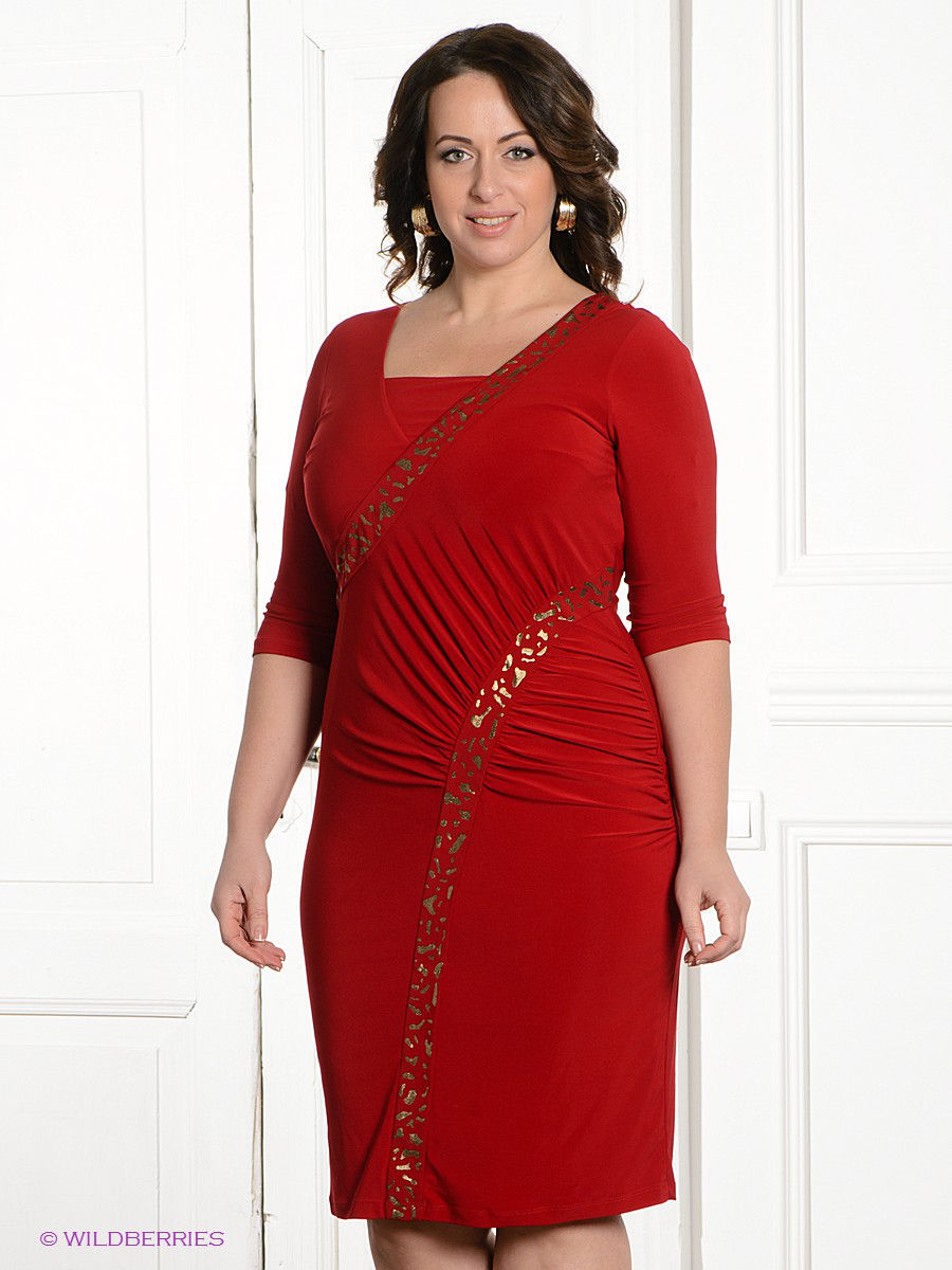 Платье Gemko plus size 3794/BORDO