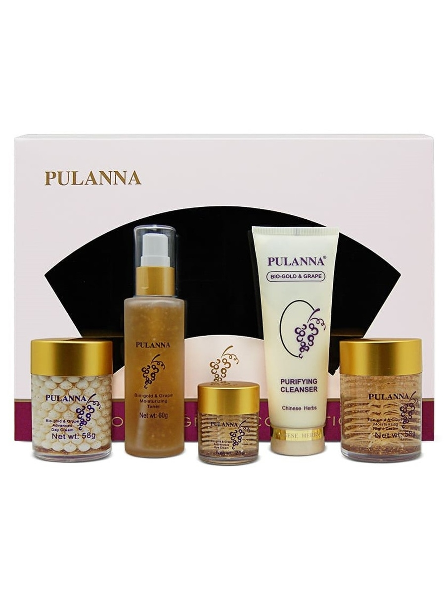 Косметические наборы для ухода PULANNA Подарочный набор Bio-Gold & Grape Cosmetics Set rf coaxial wire connector ms156 to f female bulkhead jack rg316 pigtail cable rf adapter extension cord rf jumper cable