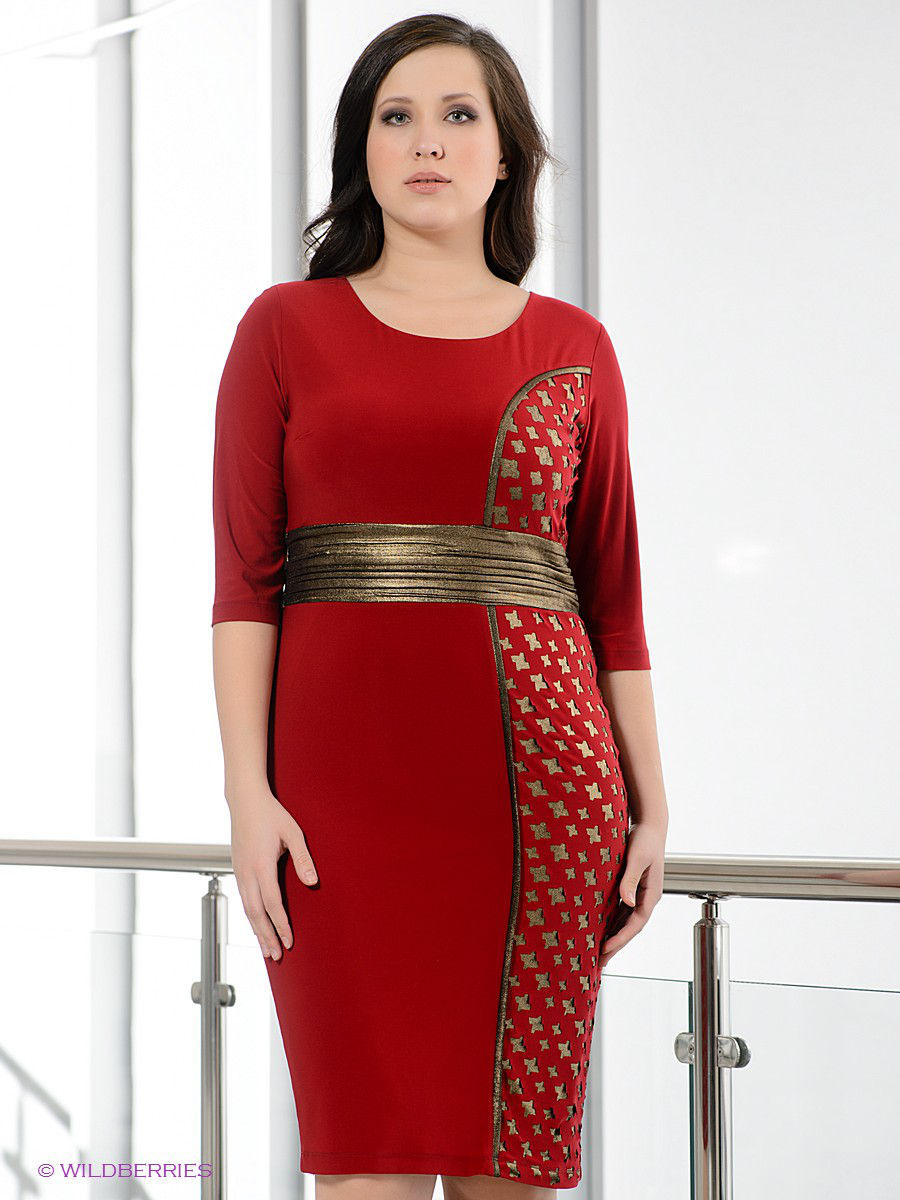 Платье Gemko plus size 3782/BORDO