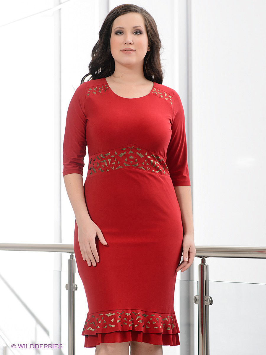 Платье Gemko plus size 3795/BORDO