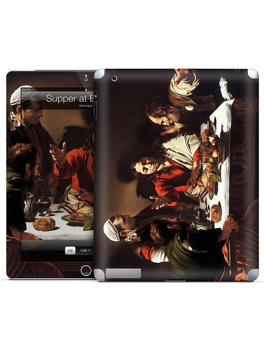 Наклейки для техники Gelaskins Наклейка для iPad 2,3,4 Supper at Emmaus-Caravaggio