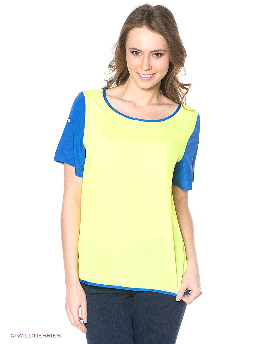Блузка Neohit NHJHS14BL103/YELLOW/BLUE