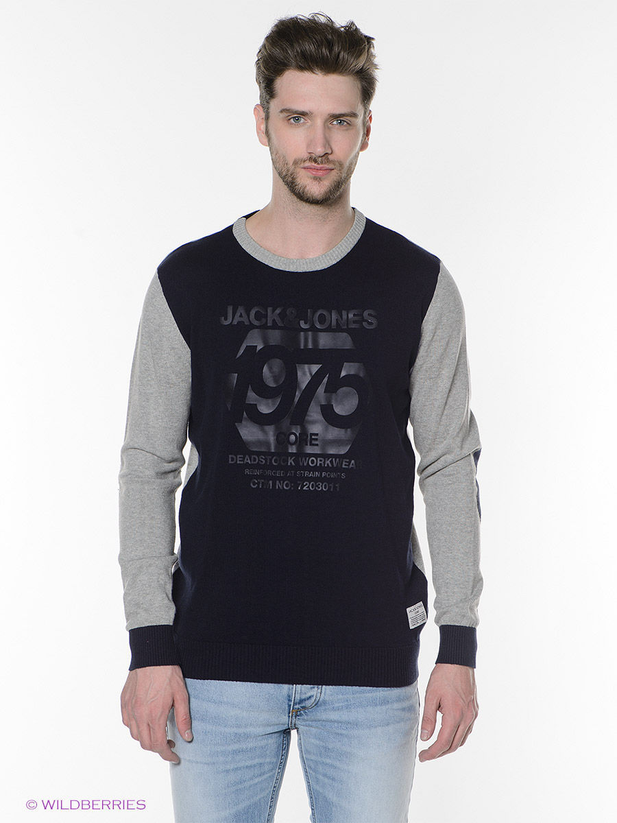 Толстовка Jack & Jones 12070221/BlackNavy