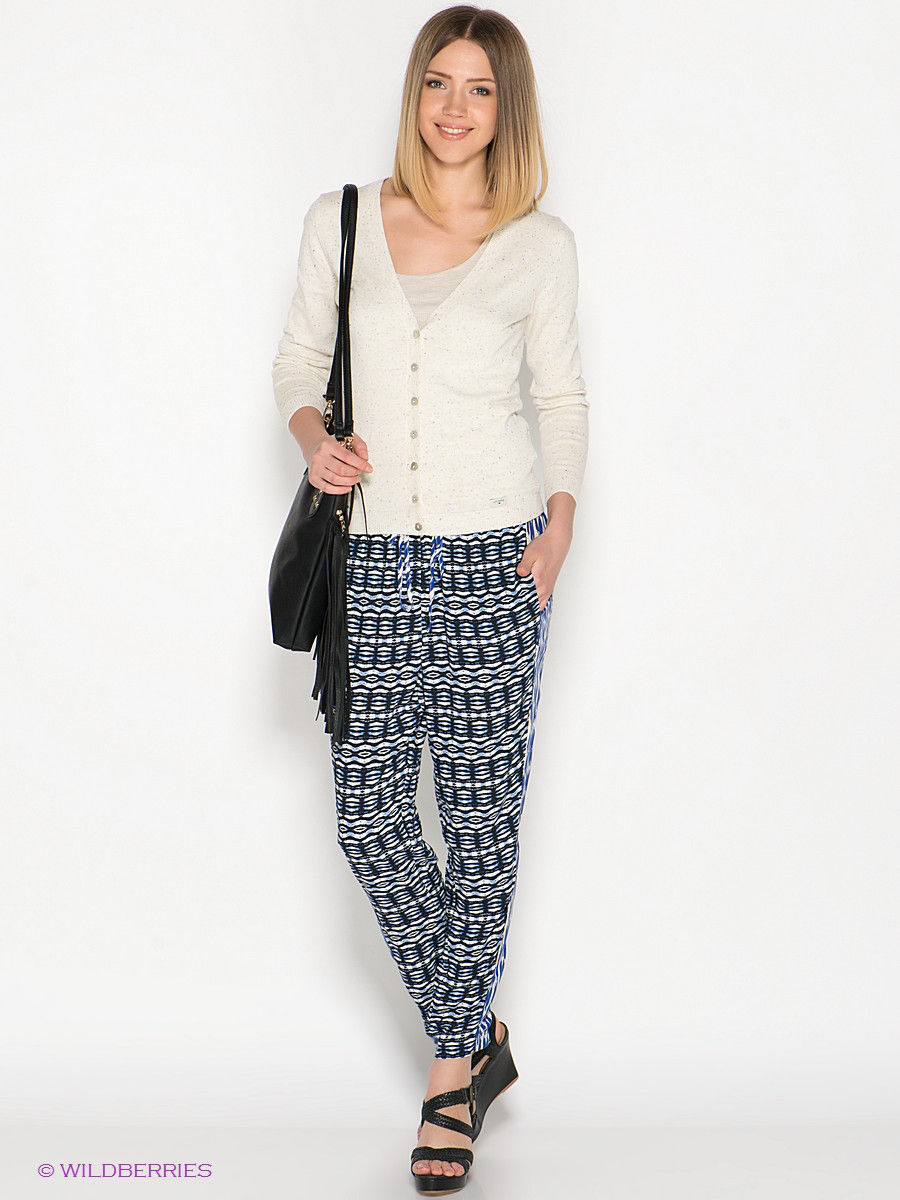 Брюки PRINTED VISCOSE PANTS MAVI 100137-17852