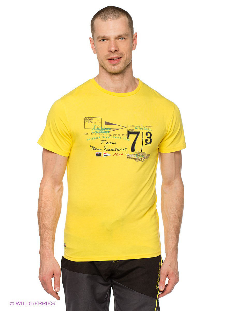 Футболка Northland Professional Футболка M Trevor Baumwoll T-Shirt yellow косметичка mango mango ma002bwrbj79