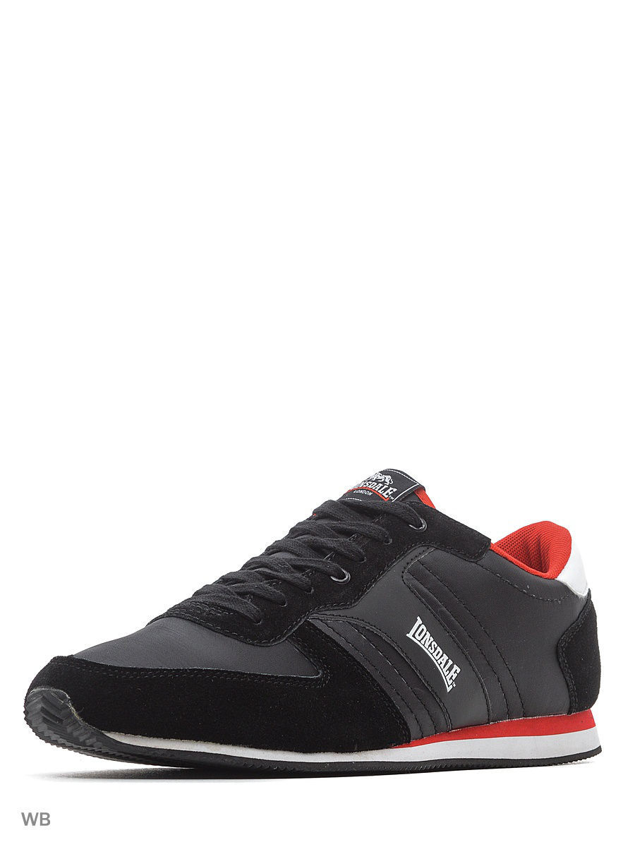 Кроссовки Lonsdale ZLMA401BW/BLACK/WHITE/RED