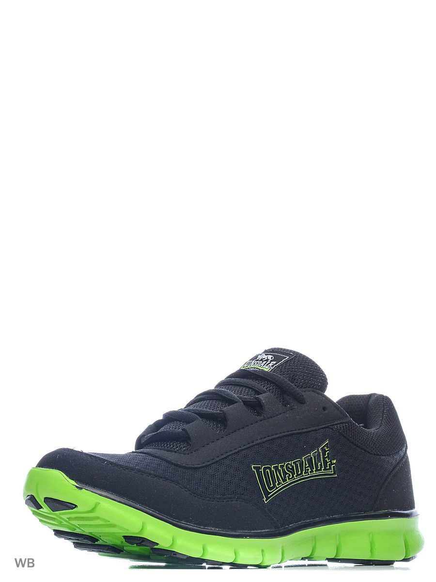Мужская обувь Lonsdale ZLMA446BN2TC/BLACK/LIME