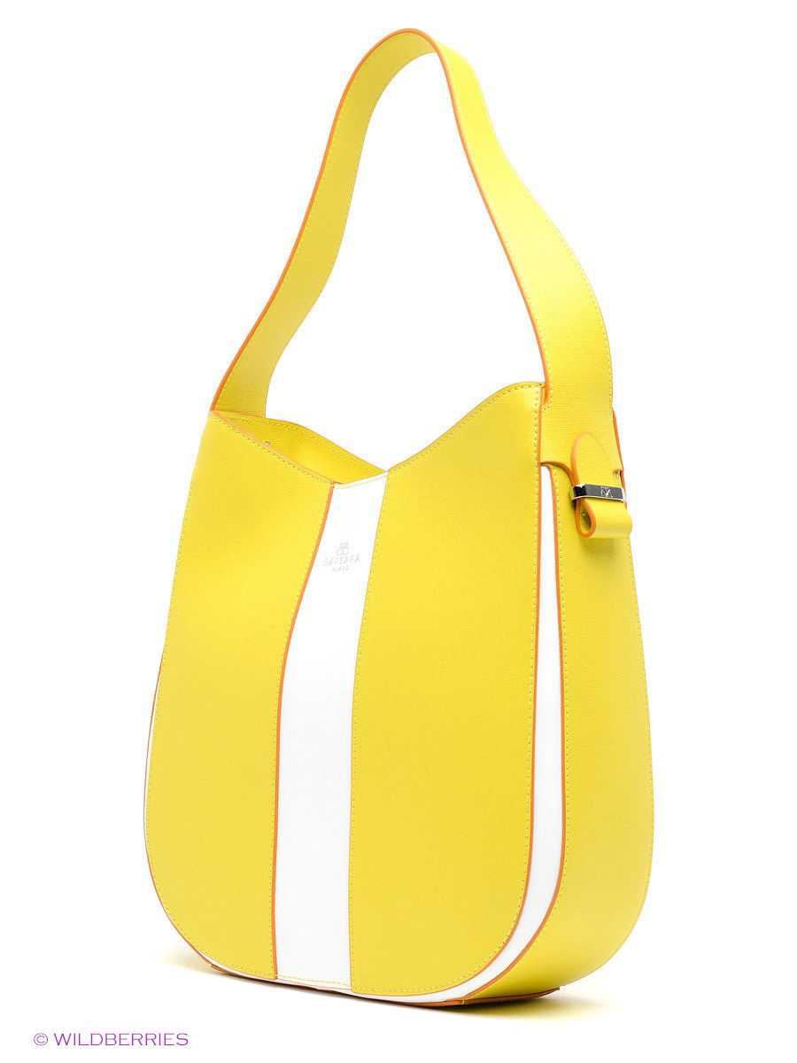 Кожаная сумка BARBARA MILANO BR0016M025/yellow/white