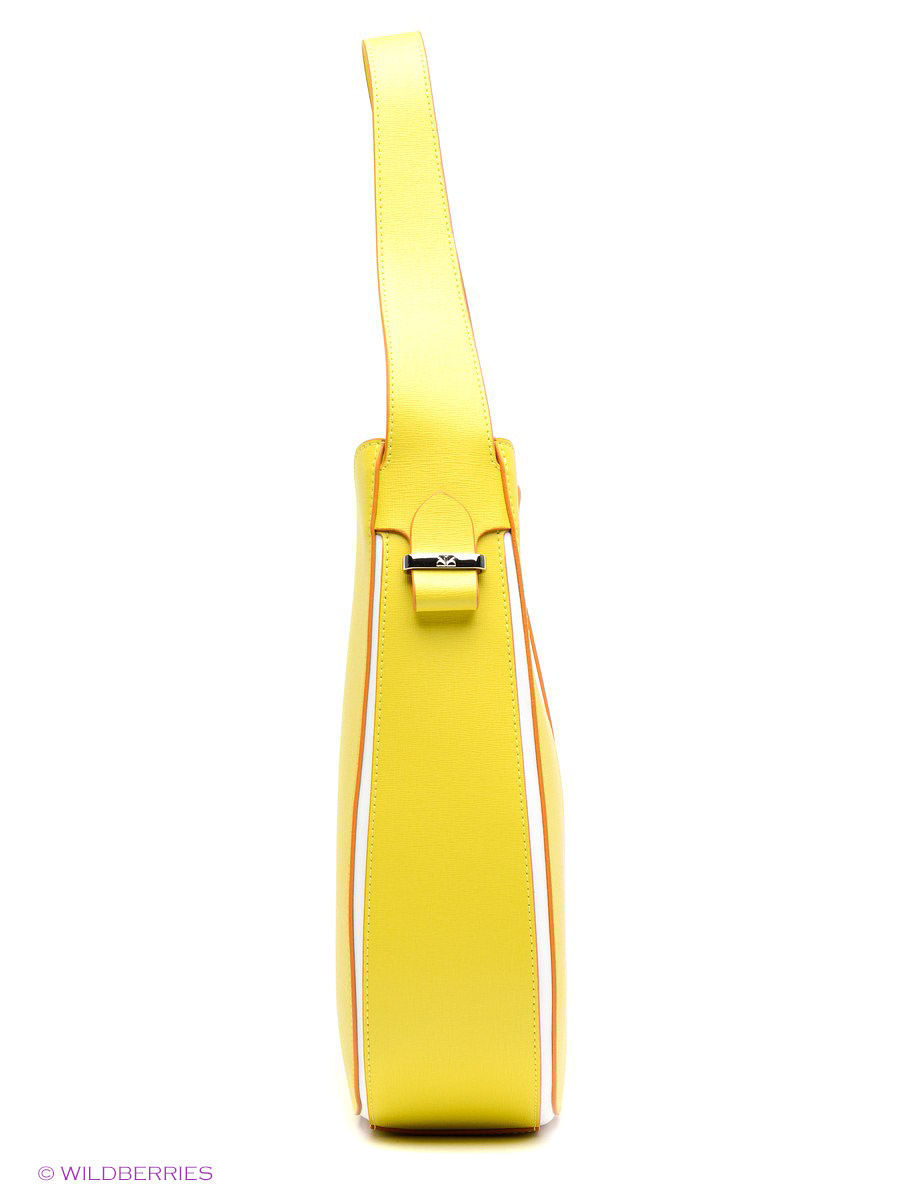 Кожаная сумка BARBARA MILANO BR0016M025/yellow/white: изображение 3