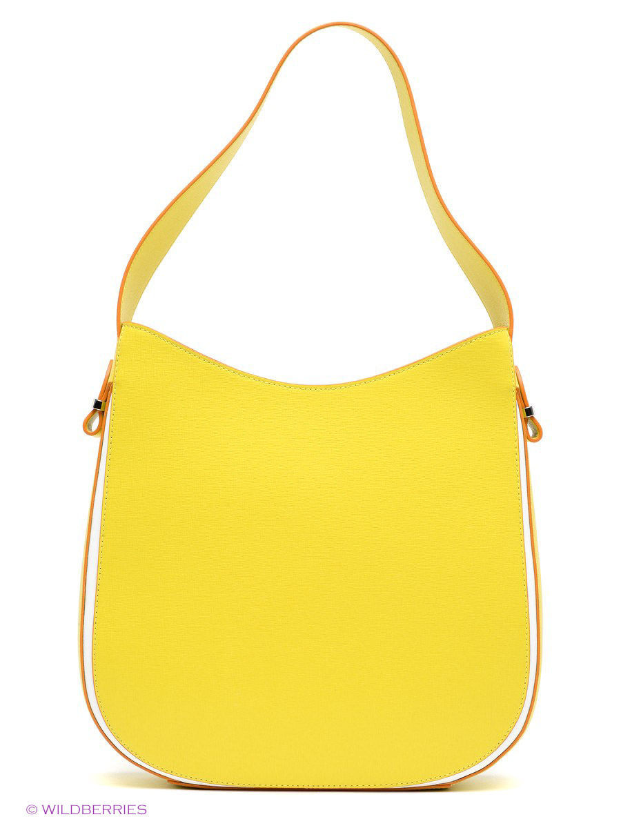 Кожаная сумка BARBARA MILANO BR0016M025/yellow/white: изображение 4