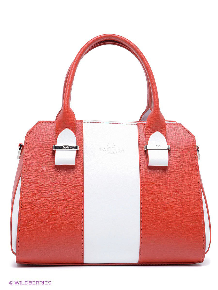 Кожаная сумка BARBARA MILANO BR0011M025/red/white