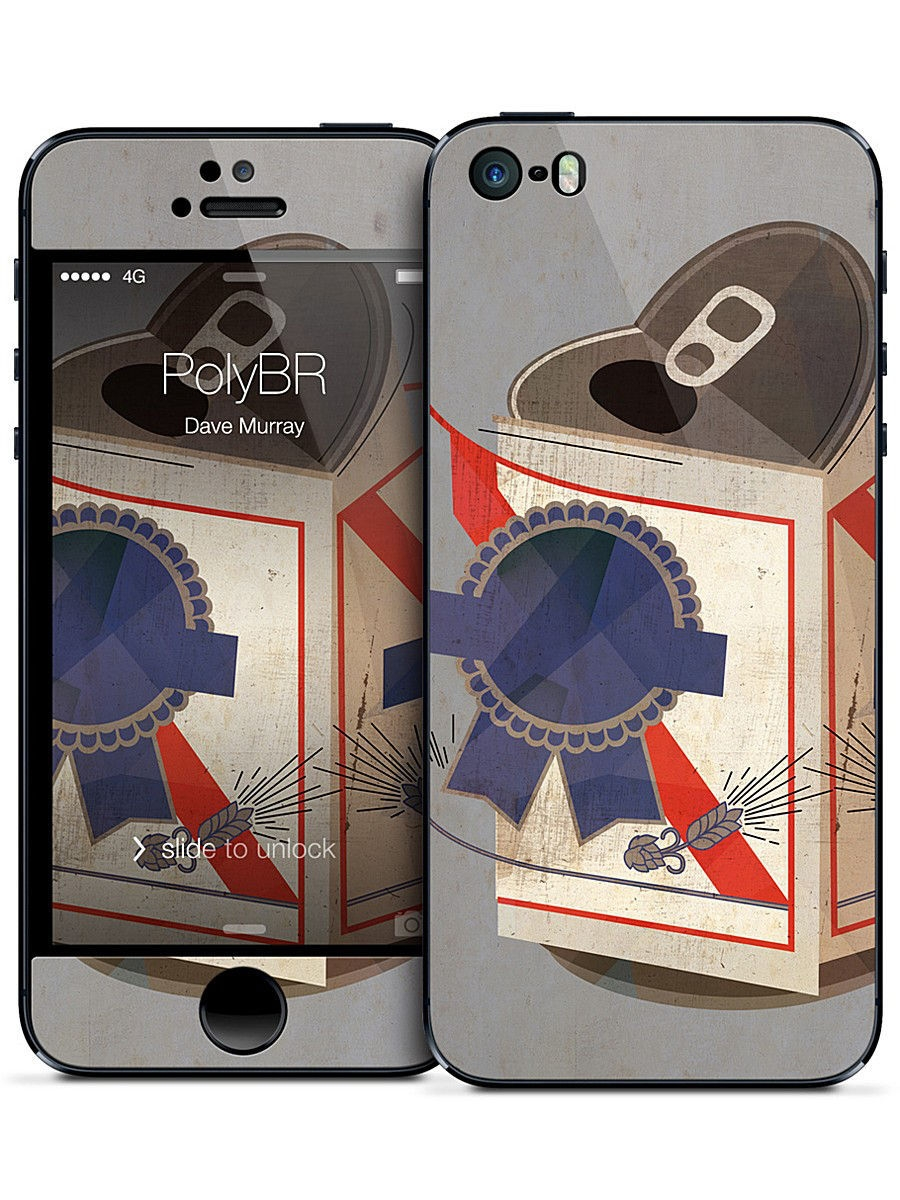 Наклейка для iPhone 5/5S PolyBR - Dave Murray Gelaskins 01421855