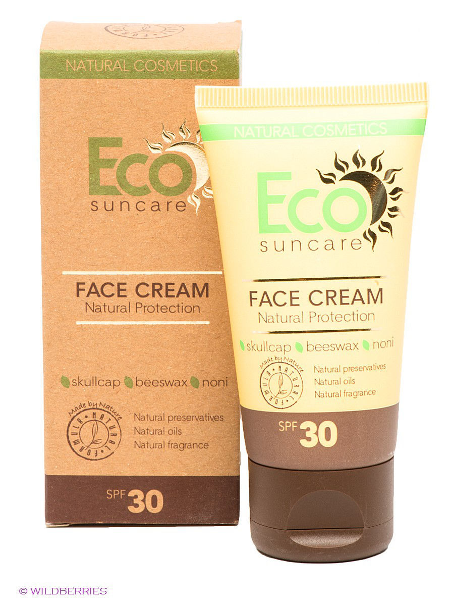 �������������� ���� ��� ���� Natural Sun Protection Face Cream SPF 30, 50�� PULANNA 9053