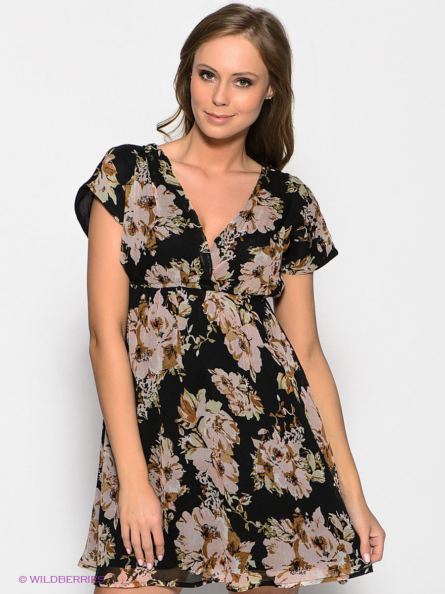 Платье Vero moda 10120293/Black/FLOWER