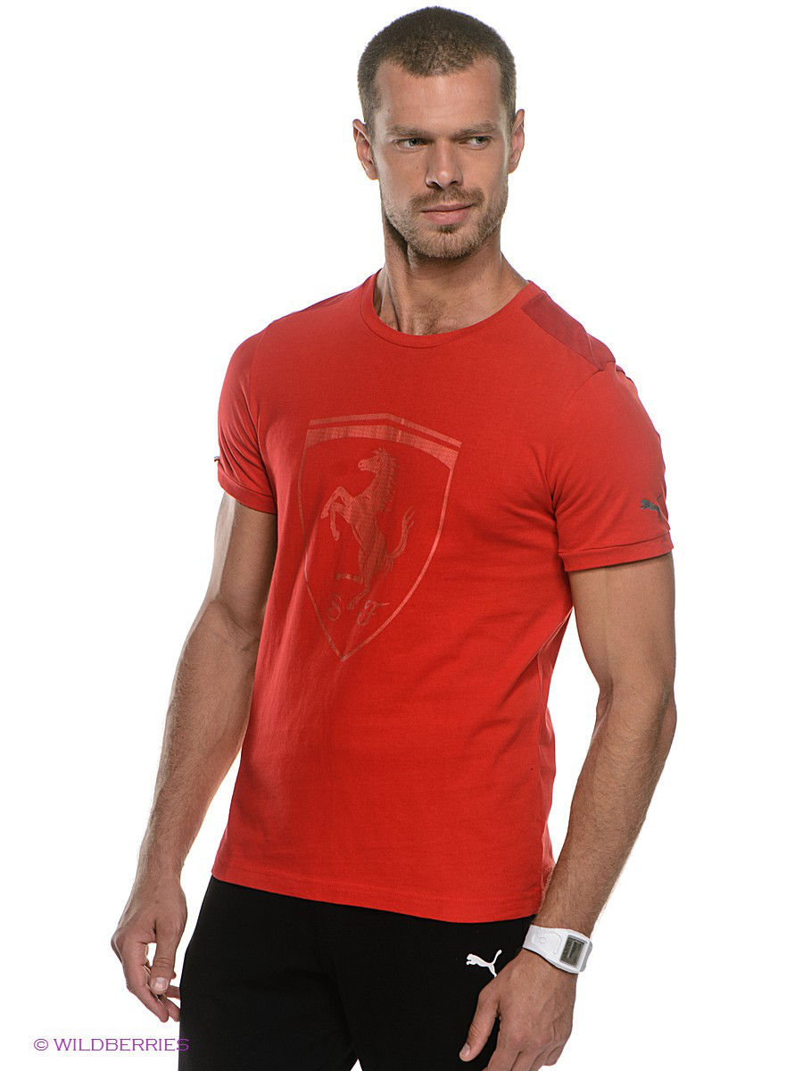 Футболка PUMA Футболка Ferrari Big Shield Tee puma шорты reps woven short