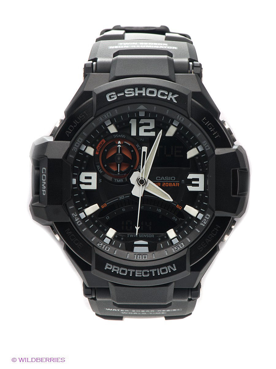 Часы наручные CASIO Часы G-SHOCK GA-1000-1A casio g shock ga 800 1a