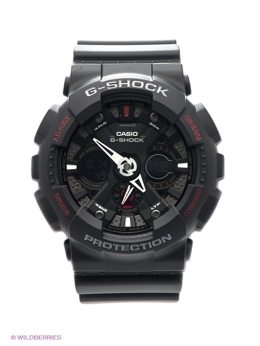 Часы наручные CASIO Часы G-SHOCK GA-120-1A часы casio g shock ga 110mb 1a black