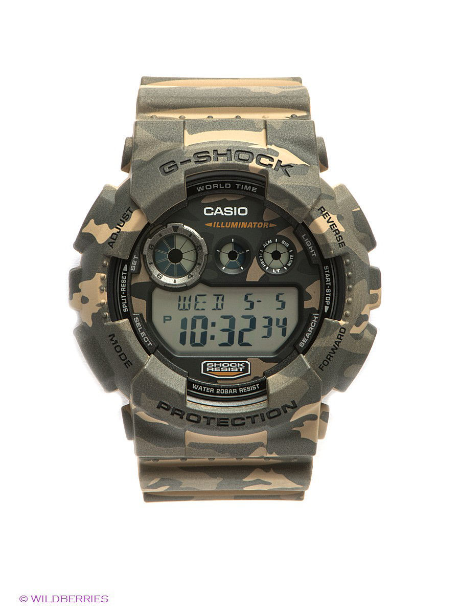 Часы наручные CASIO Часы G-SHOCK GD-120CM-5E casio casio gd x6900mc 5e