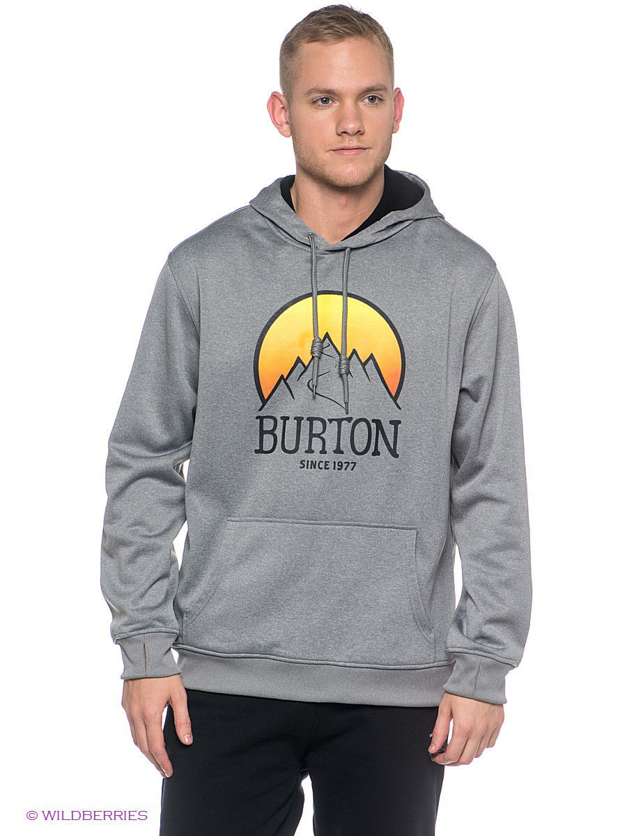 Толстовка Burton 14120100062/MONUMENT/HEATHER: изображение 1