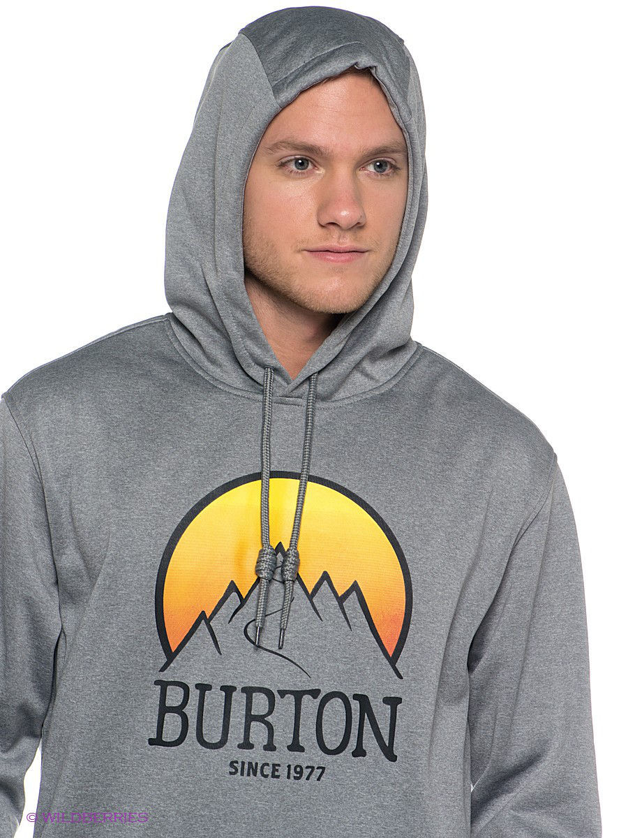 Толстовка Burton 14120100062/MONUMENT/HEATHER: изображение 4