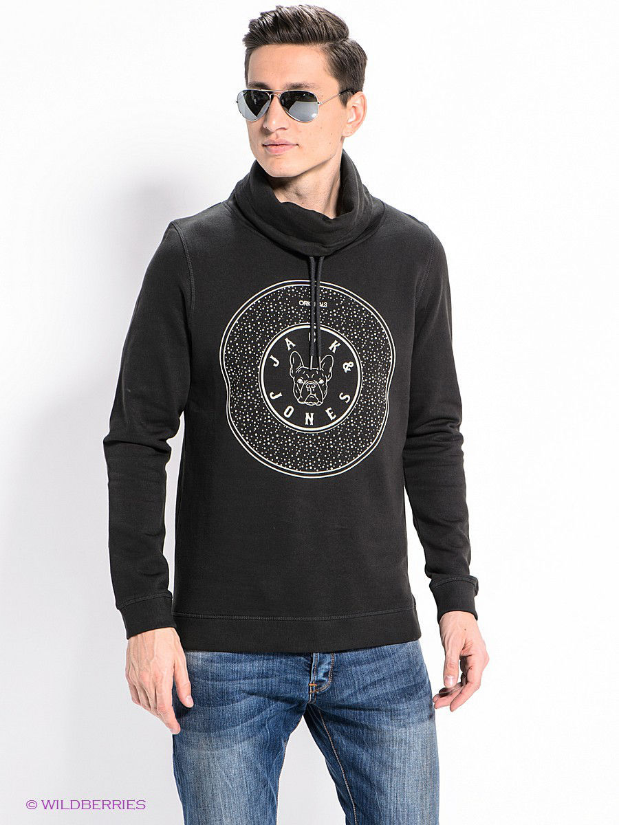 Толстовка Jack & Jones 12078707/PirateBlack