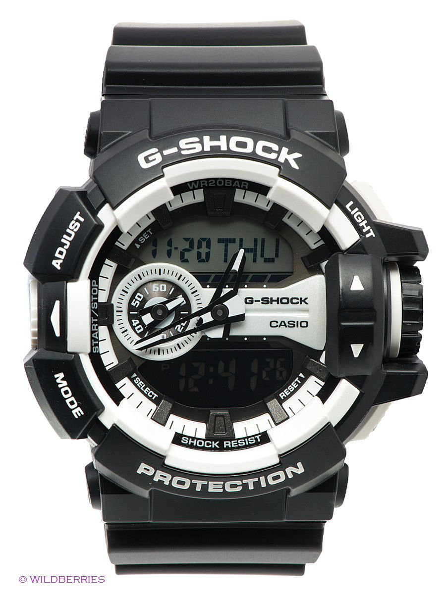 Часы наручные CASIO Часы G-SHOCK GA-400-1A casio g shock ga 150 1a