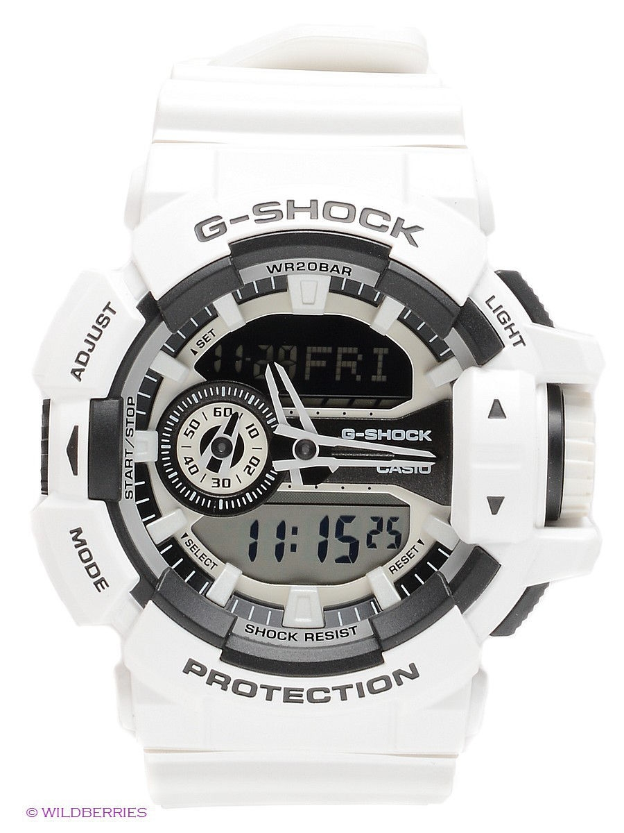 Часы наручные CASIO Часы G-SHOCK GA-400-7A матрас luntek hr medium hard revolution micro 80x195