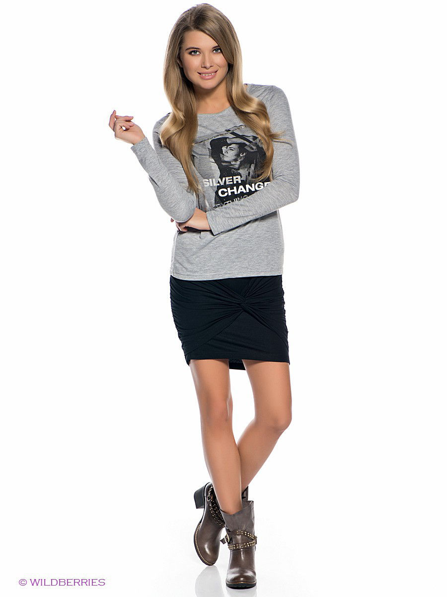 Мини-юбка Outfitters Nation 24015877/Black