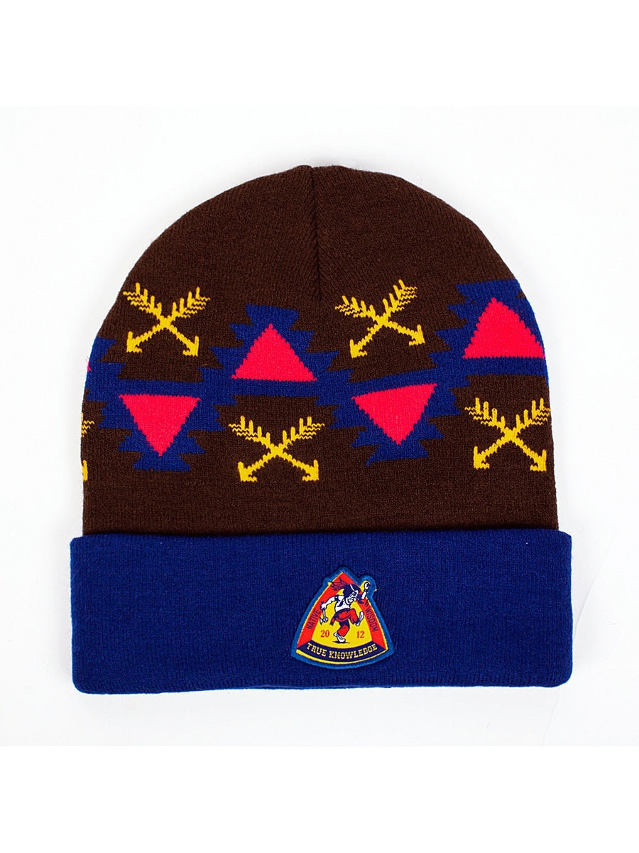 ����� TRUESPIN Native Wisdom Classic Beanie True Spin TS-NatWCB14/NAVY-BROWN