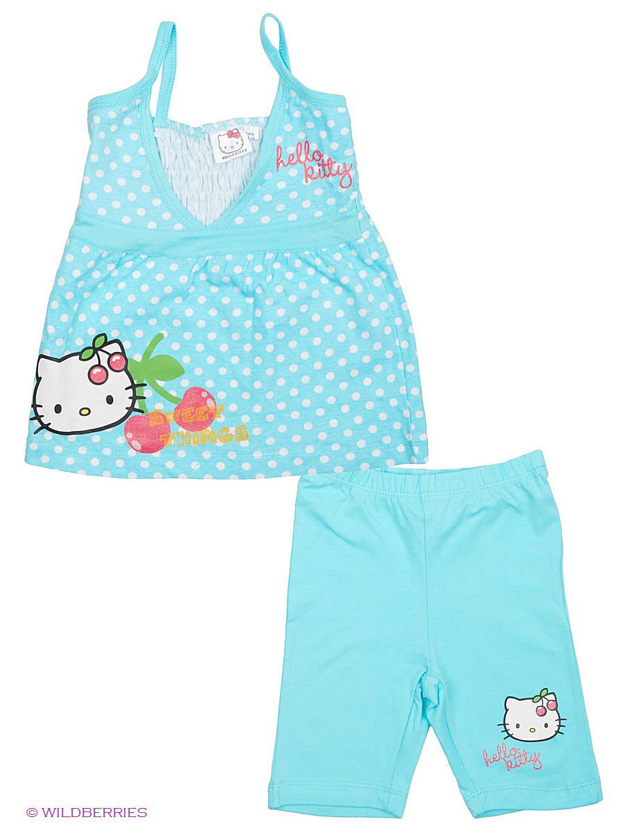 Белье и одежда для дома Hello Kitty HK-7299a-7300/White/Blueradiance
