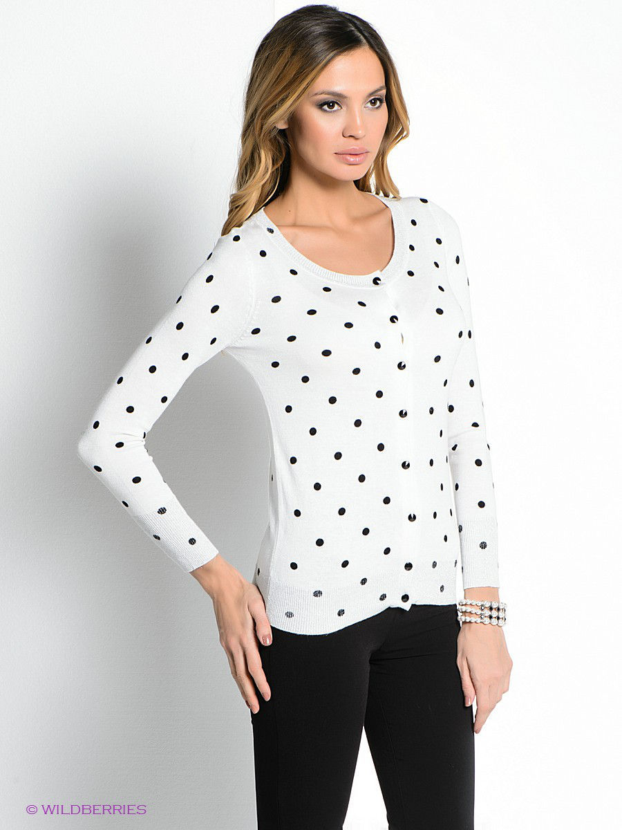 Кофты Vis-a-Vis VIS-0036J/WHITE/BLACKPRINT