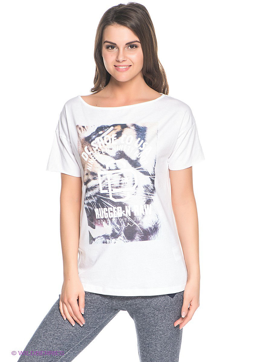 Футболка RAW TIGA WMN TE J TEES DC Shoes EDJZT03018/WBN0