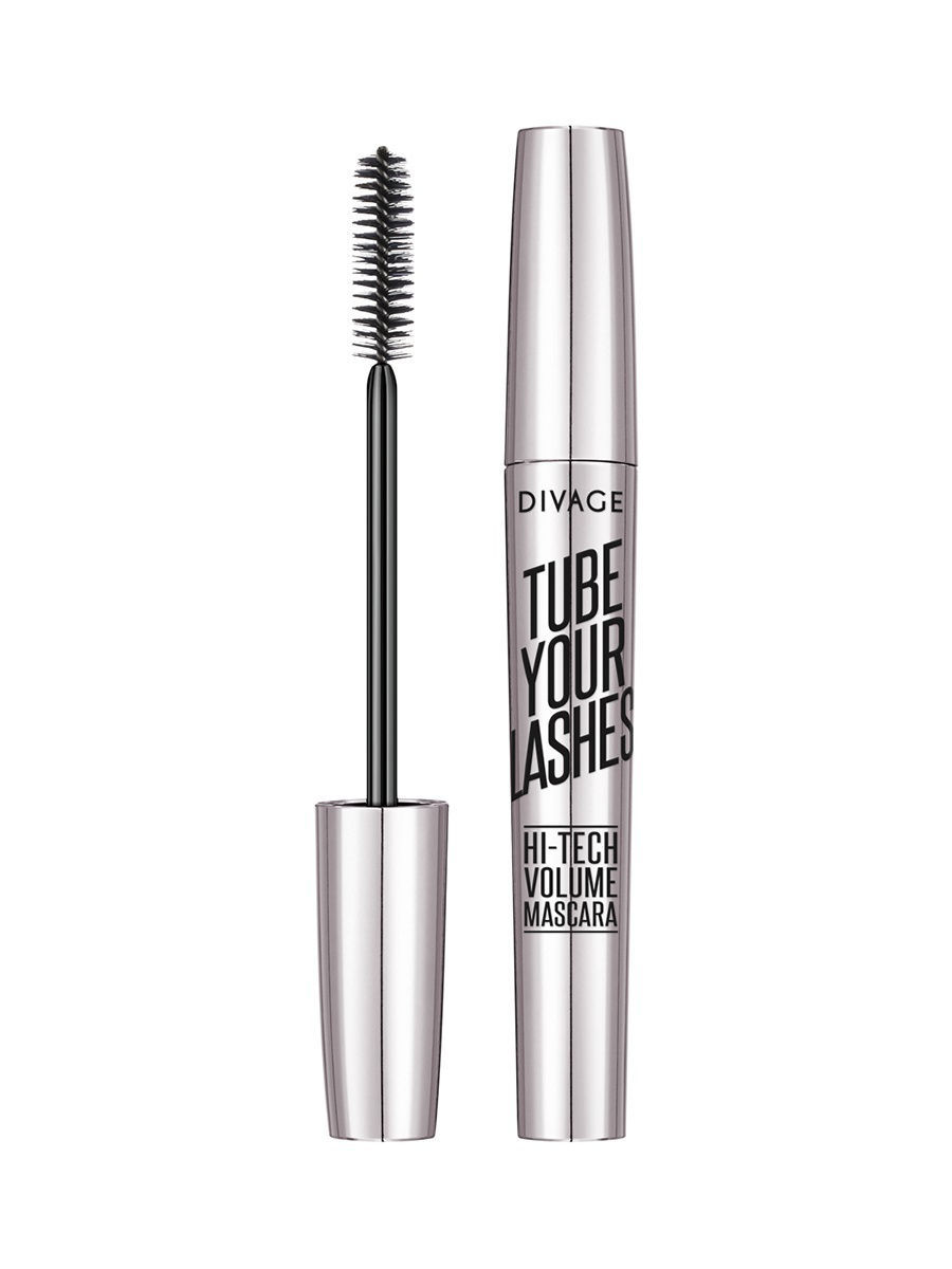 Туши DIVAGE Тушь для ресниц TUBE YOUR LASHES Hi-Tech Volume Mascara тон 02 туши divage тушь для ресниц mascara tube your lashes тон 04