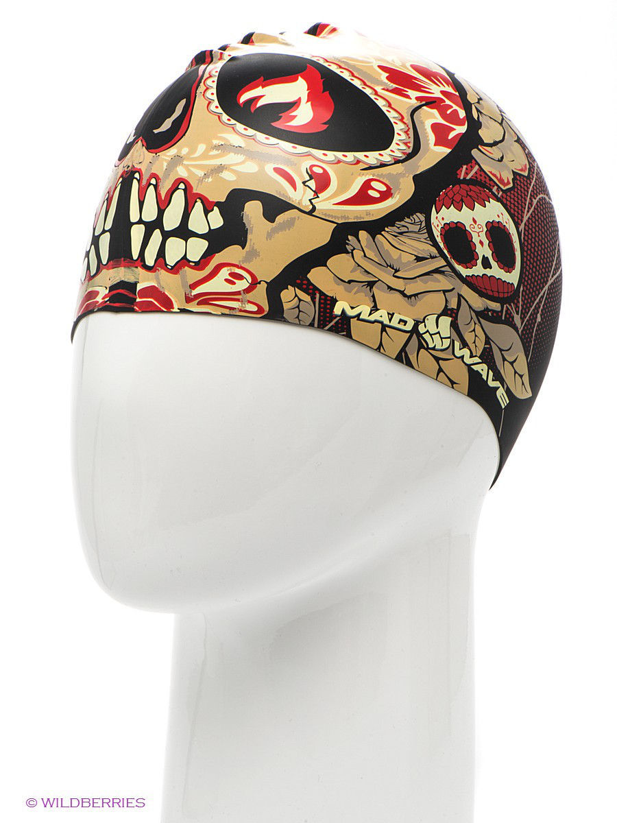 Шапочка TOMB FACE silicone printed Mad Wave M05540400