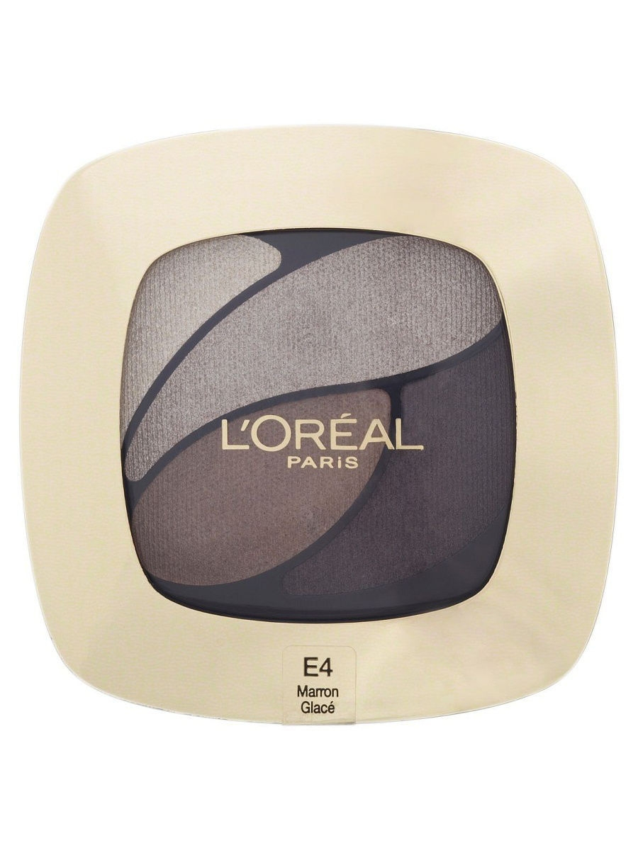 Тени L'Oreal Paris Тени для век Color Riche, Квадро, оттенок E4, Кожаный клатч, 4,5 г тени l oreal paris тени для век color riche l ombre pure оттенок 307 smoky 3 6 мл