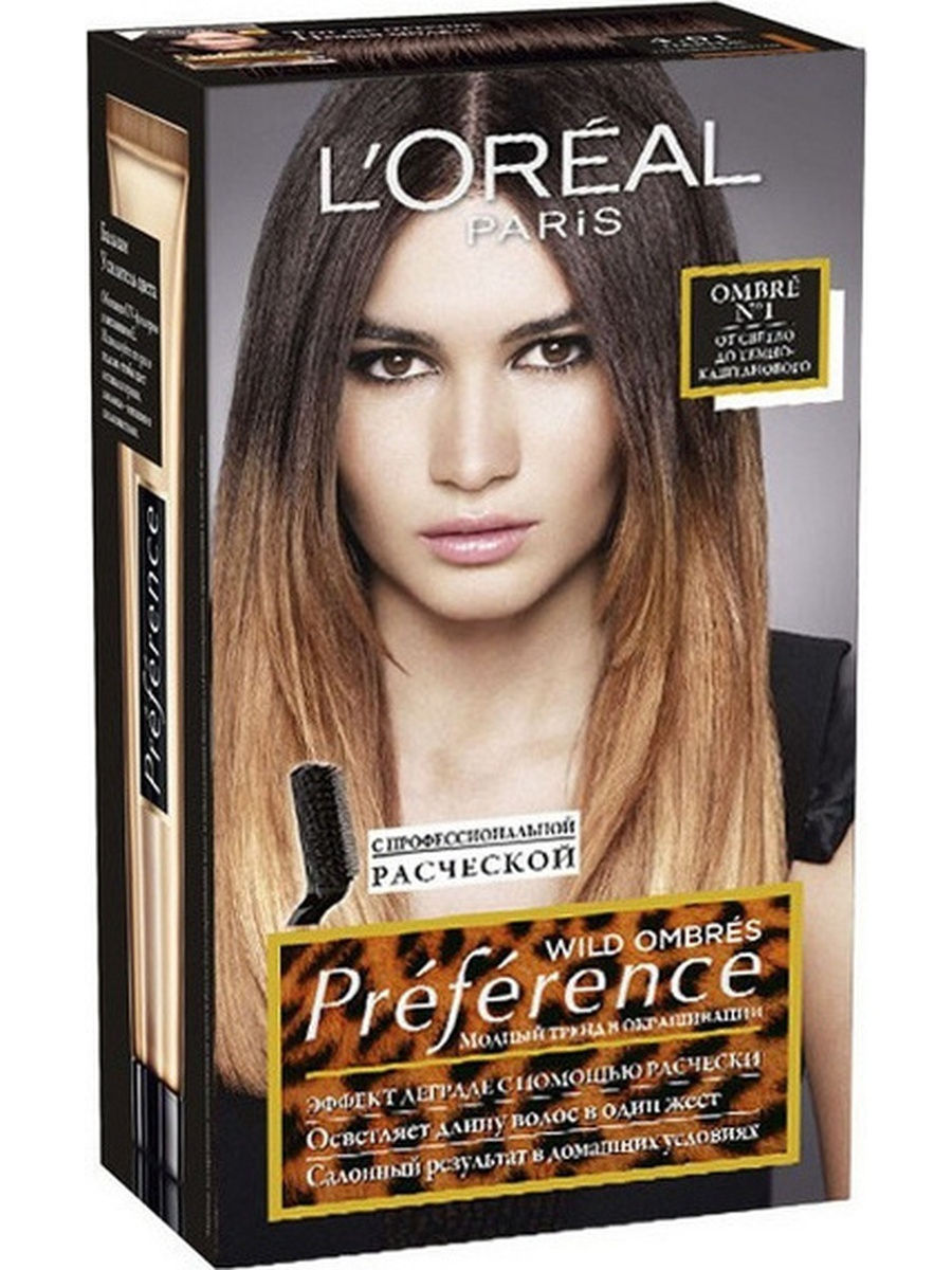 """������� ������ ��� ����� """"Preference Wild Ombres"""", ������� 1, �� ������ �� �����-�����������, 192 �� L'Oreal Paris A6736501"""