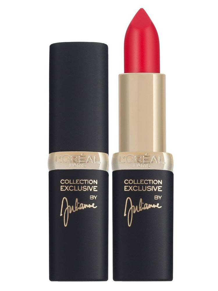 Помады L'Oreal Paris Губная помада Color Riche Pure Reds, тон Julianne's pure red, 4,5 мл тени l oreal paris тени для век color riche l ombre pure оттенок 307 smoky 3 6 мл