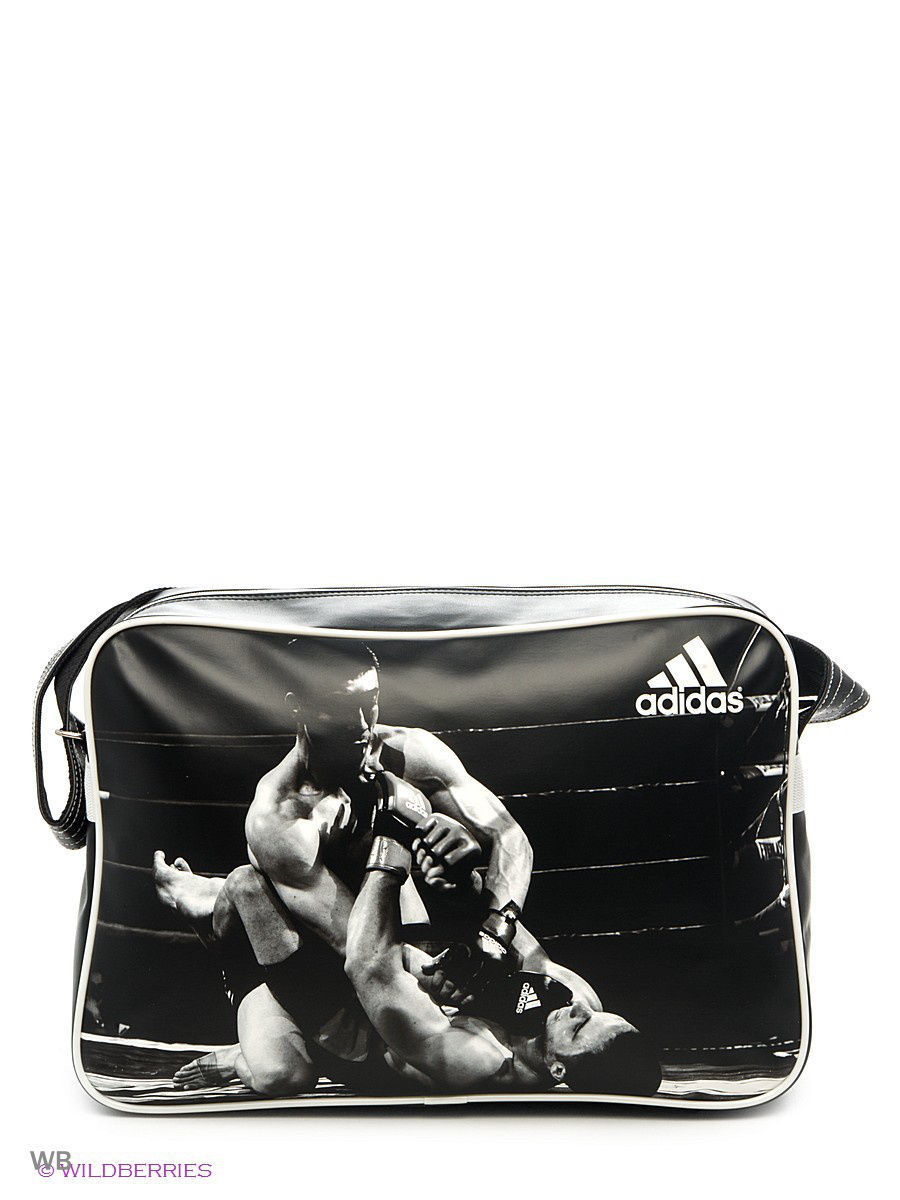 Сумка спортивная Sports Bag MMA Adidas adiACC111CS-M-L/черно-белый