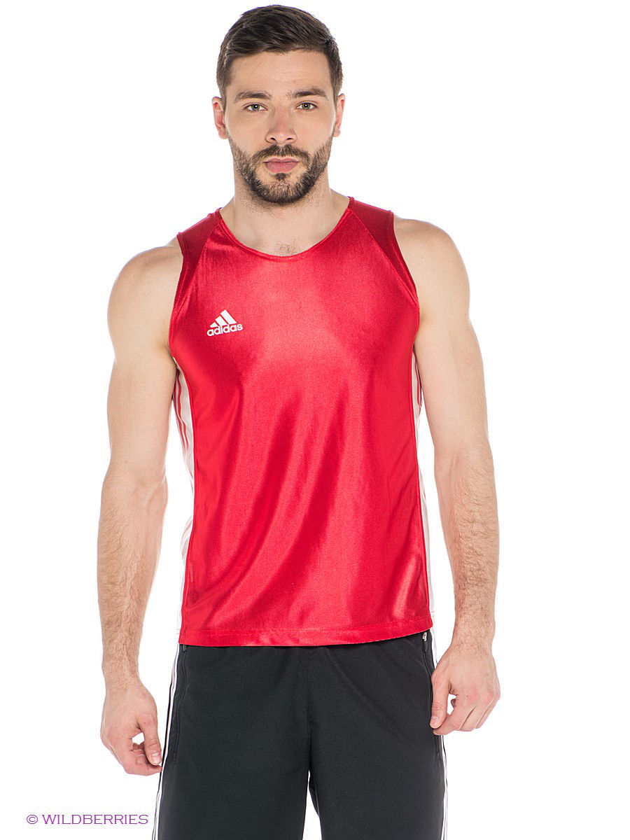 Майка Amateur Boxing Tank Top Adidas adiTB142/красный