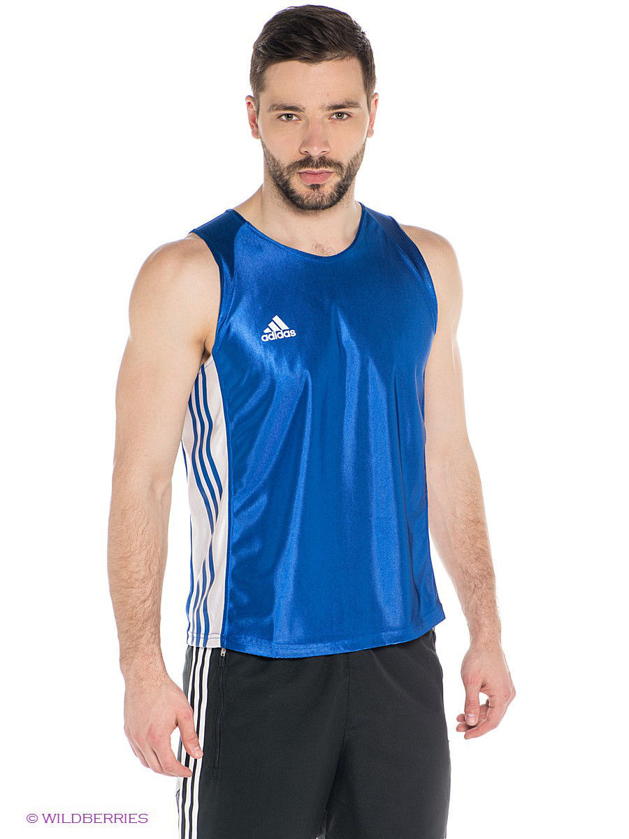 Майка Amateur Boxing Tank Top Adidas adiTB142/синий