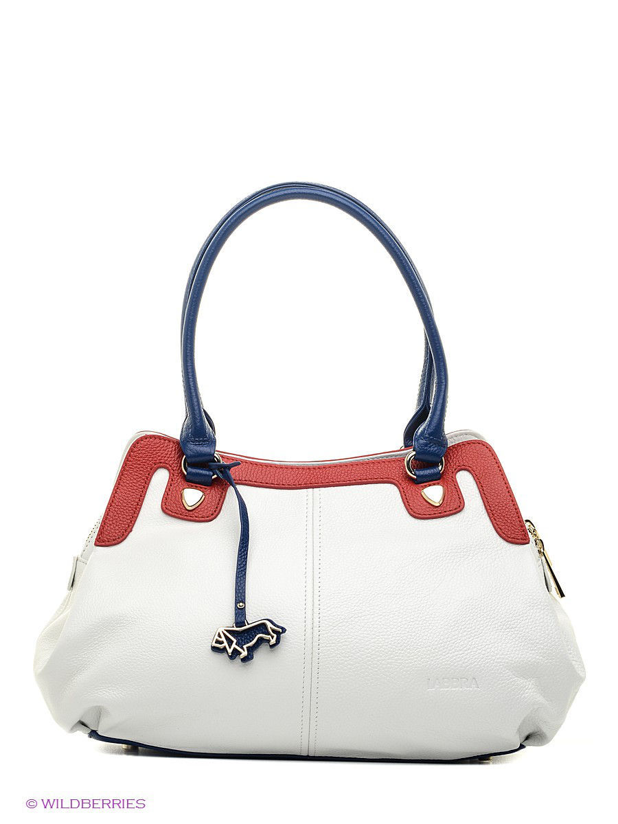 Кожаная сумка Labbra L-DL90456 WHITE/RED/BLUE
