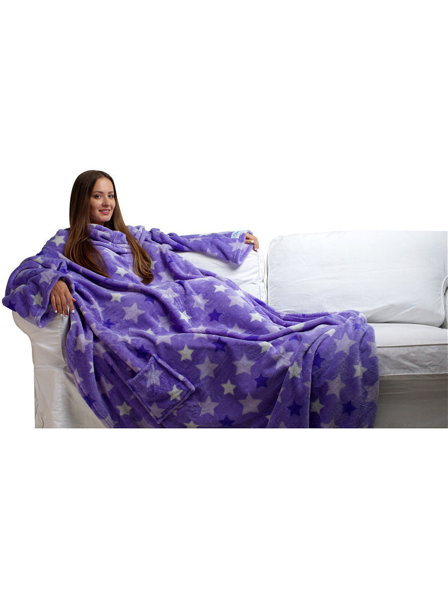 Пледы Sleepy Плед с рукавами Sleepy Luxury Purple Star пледы sleepy sleepy classic new year moose