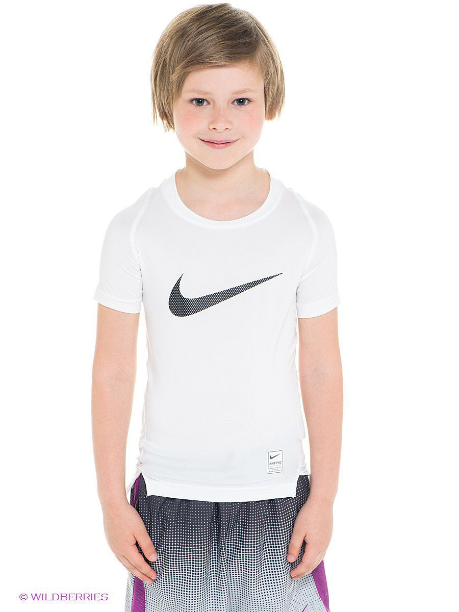 Футболка Nike Футболка COOL HBR COMP SS YTH термобелье верх поддевка nike core comp ss top yth sp15 522801 010 s l чёрный