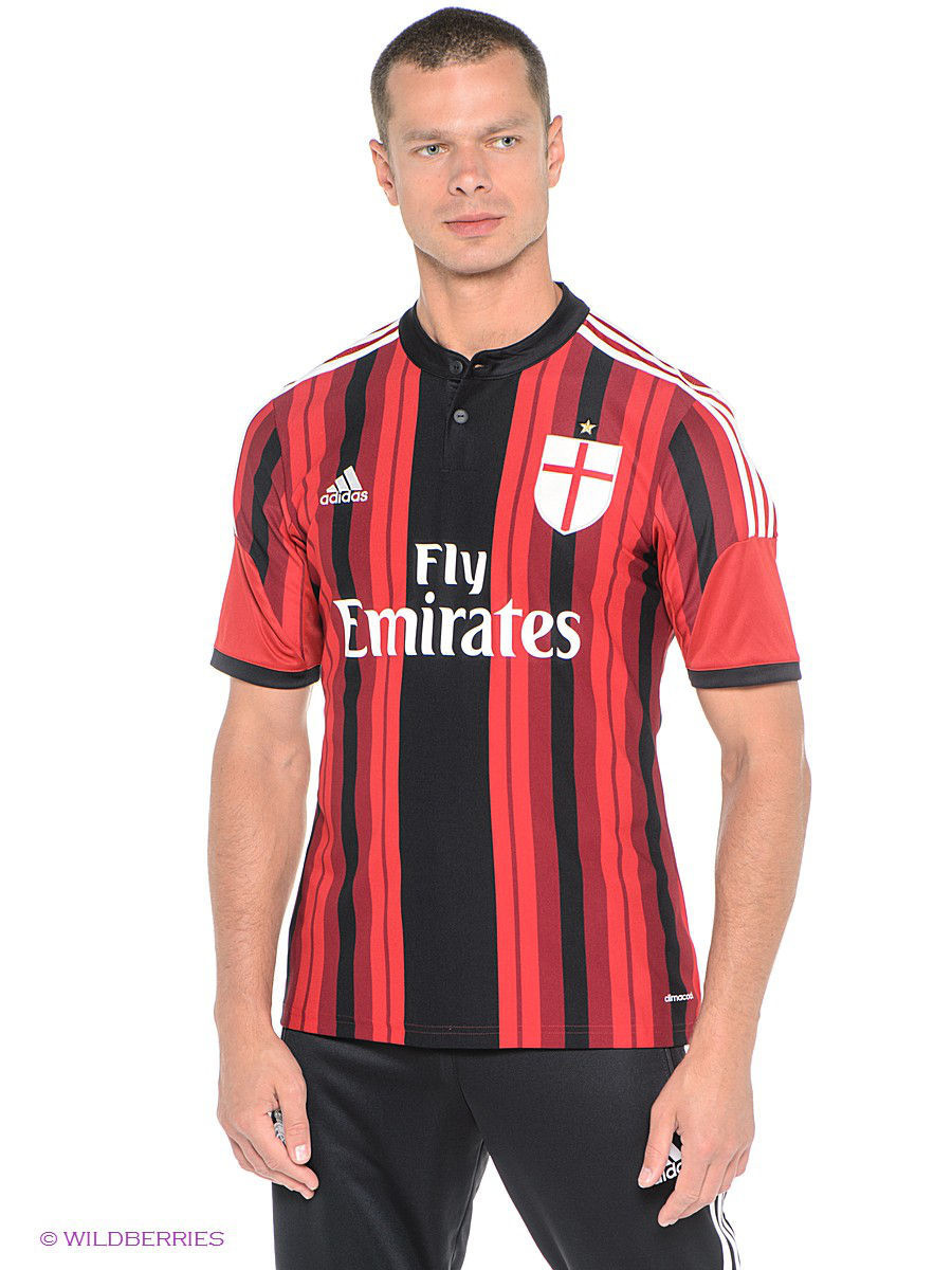 Футболка Adidas Футболка MEN'S AC MILAN REPLICA HOME PLAYER JERSEY