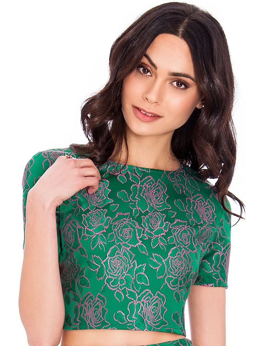 Футболка Goddess London T57/GREEN