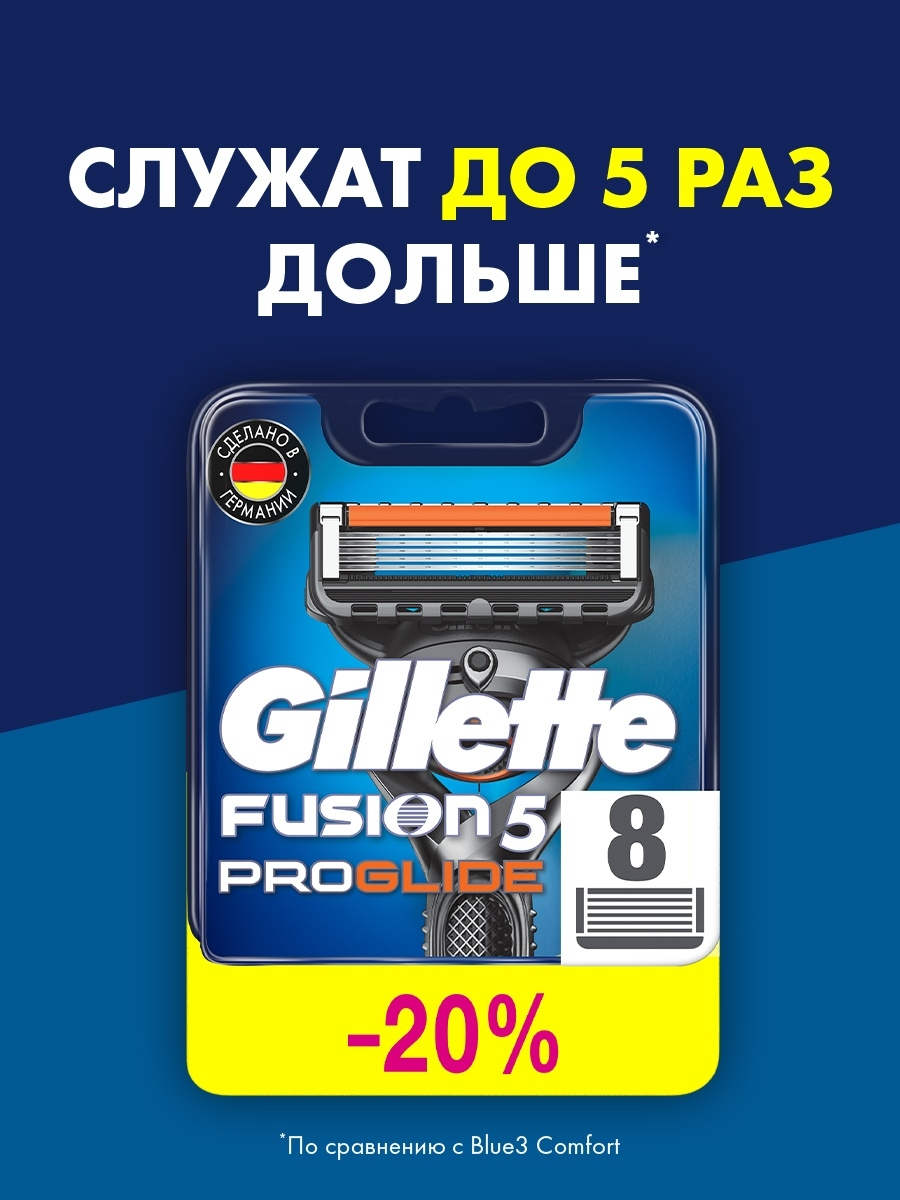 Кассеты для бритв GILLETTE Сменные кассеты для бритья FUSION PROGLIDE, 8 шт mr froger carcharodon megalodon model giant tooth shark sphyrna aquatic creatures wild animals zoo modeling plastic sea lift toy