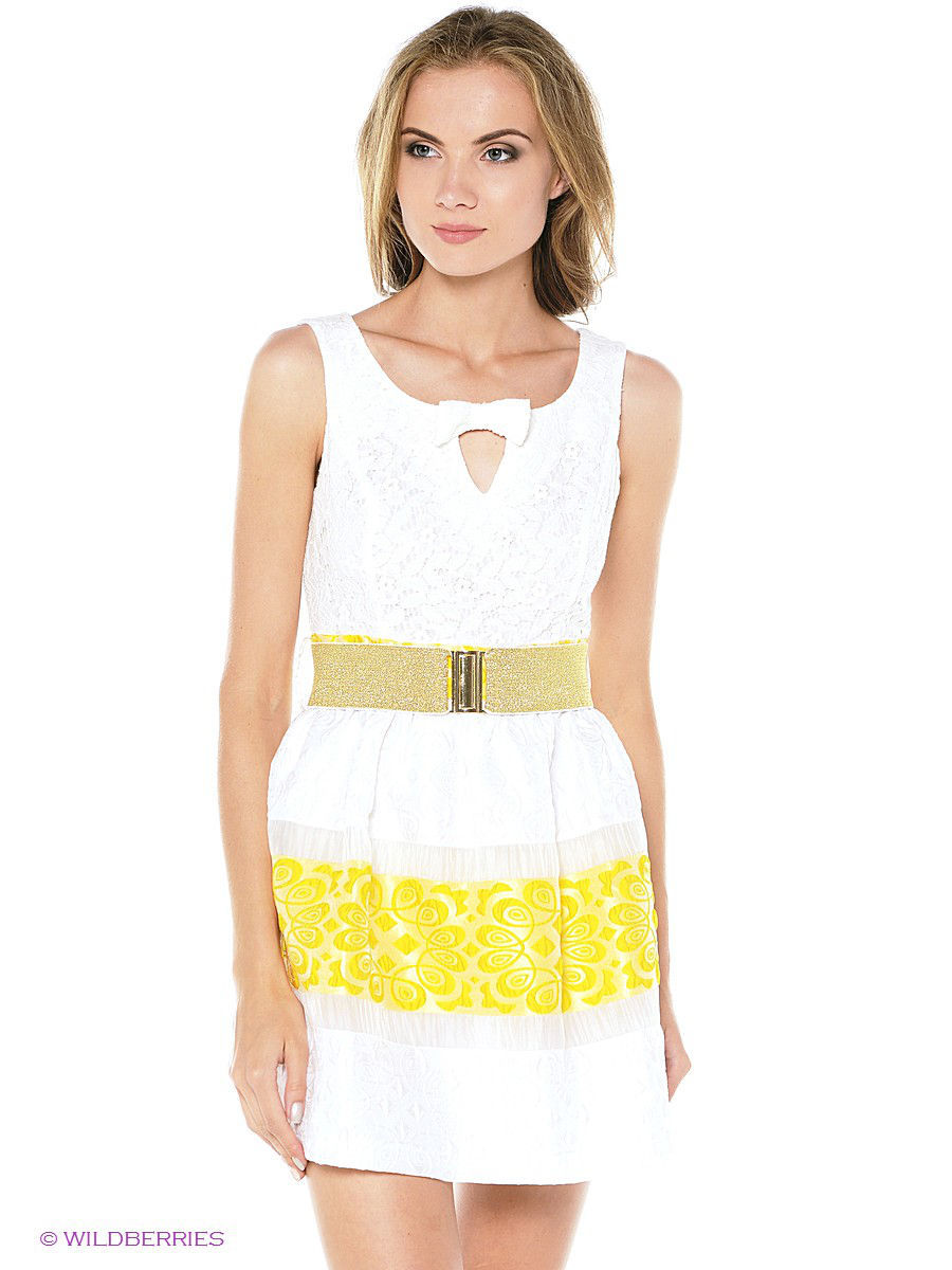 Летнее платье TOPSANDTOPS 8074-150126TT/white-yellow